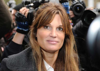 Jemima Khan arrives to post bail for Julian Assange.