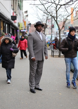 Tyrrell Muhammad on 125th Street in Harlem.