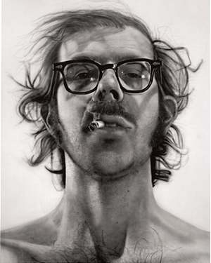 Big Self-Portrait, Chuck Close's breakthrough painting.
