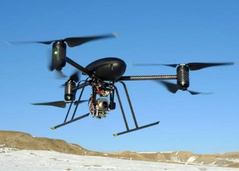 A Draganflyer drone of the type owned by the LAPD.