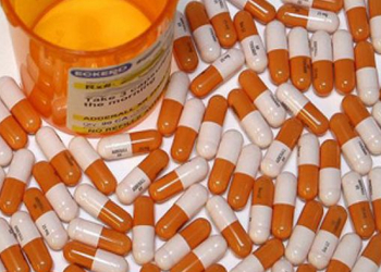 Adderall, in capsule form.