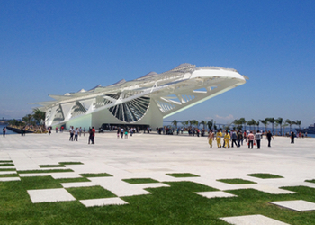 The Museum of Tomorrow, in Rio's revitalised port zone.