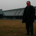 Soren Hermansen standing out side the Samso Energy Academy