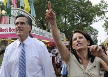 Mitt Romney and Michele Bachmann lead the field.