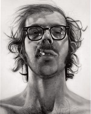 Big Self-Portrait, Chuck Close's breakthrough painting.