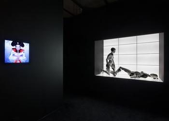 Installation view of the Bjork exhibition. Photo: Jonathan Muzikar.