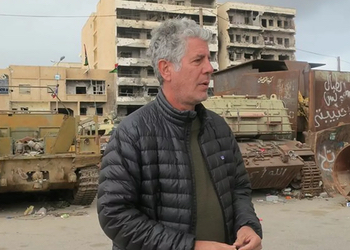 Filming Parts Unknown in Libya.