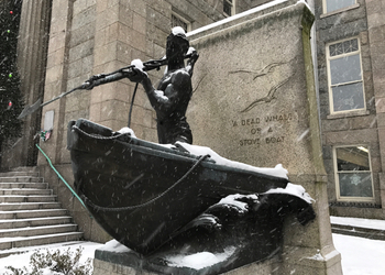 A monument to the whaling industry in New Bedford