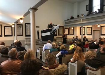 'Father Mapple' preaches in the Seamen's Bethel