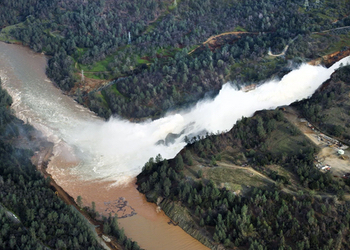 At least 188,000 people were forced to leave their homes following a spillway breach at Oroville Dam in February 2017.
