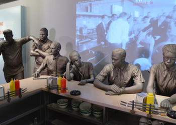 A reconstruction of the Woolworth's lunch counter in Greensboro, NC.