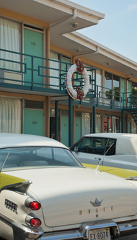 The balcony of the Lorraine Motel, where Martin Luther King was shot dead.