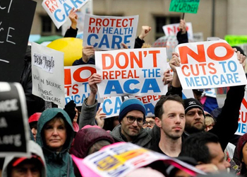 Opposition to the Republican health care bill has been fierce.