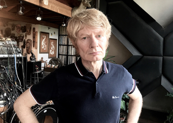 JG Thirlwell at home in 2017.