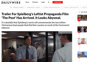 Right wing media attacked the film before seeing it (and after).