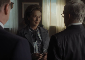 It's a man's world for Katharine Graham, as played by Meryl Streep.