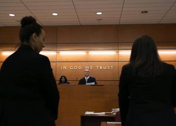 Judge Grasso in court.
